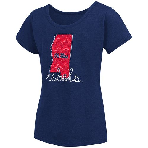 Colosseum Athletics™ Girls' University of Mississippi Tissue 2017 T-shirt - view number 1
