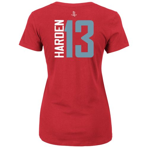 Majestic Women's Houston Rockets James Harden 13 Vertical Name and Number T-shirt