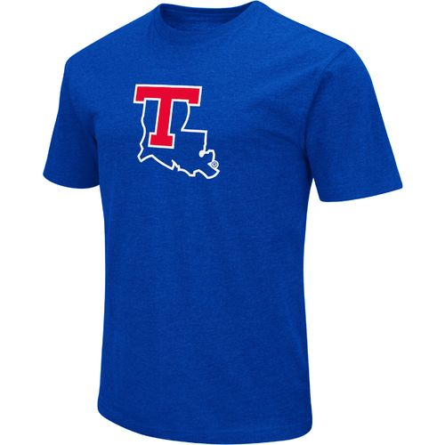 Colosseum Athletics Men's Louisiana Tech University Logo Short Sleeve T-shirt