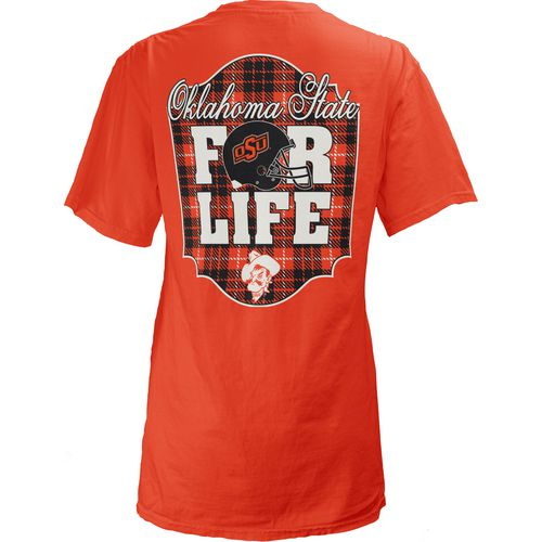 Three Squared Juniors' Oklahoma State University Team For Life Short Sleeve V-neck T-shirt