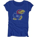 Blue 84 Juniors' University of Kansas Mascot Soft T-shirt - view number 1