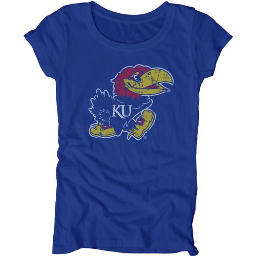Blue 84 Juniors' University of Kansas Mascot Soft T-shirt