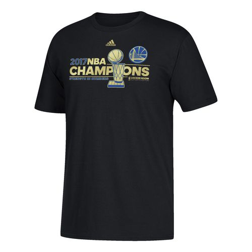 adidas Men's Golden State Warriors 2017 NBA Finals Champions Locker Room T-shirt