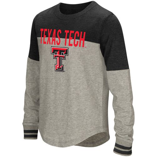 Colosseum Athletics Girls' Texas Tech University Baton Long Sleeve T-shirt