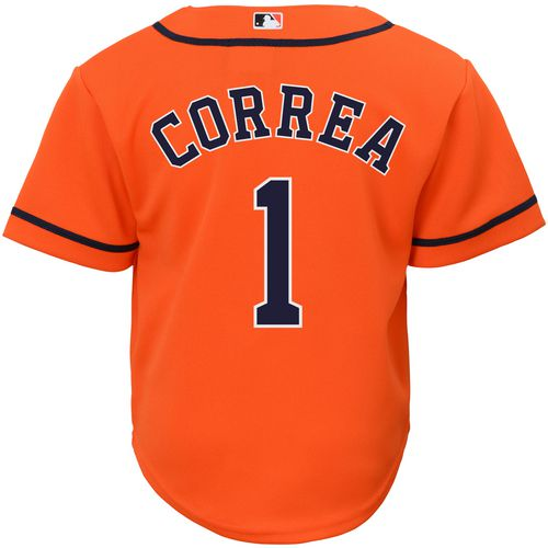 Majestic Toddlers' Houston Astros Carlos Correa 1 COOL BASE Jersey