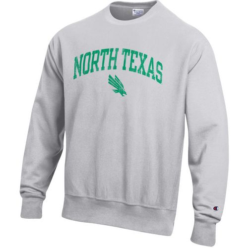 Champion Men's University of North Texas Reverse Weave Crew Sweatshirt