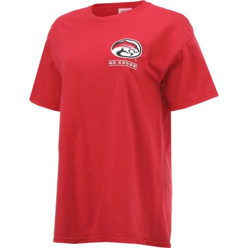 New World Graphics Women's University of Houston Comfort Color Puff Arch T-shirt - view number 3
