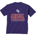New World Graphics Women's Stephen F. Austin State University Comfort Color Initial Pattern T-sh - view number 1