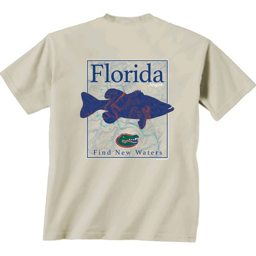 New World Graphics Men's University of Florida Angler Topo Short Sleeve T-shirt