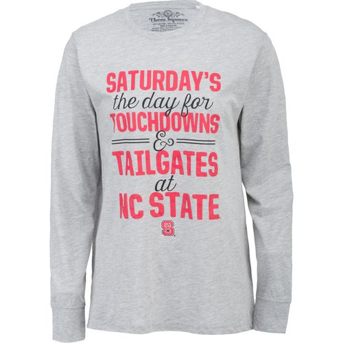 Three Squared Juniors' North Carolina State University Touchdowns and Tailgates T-shirt