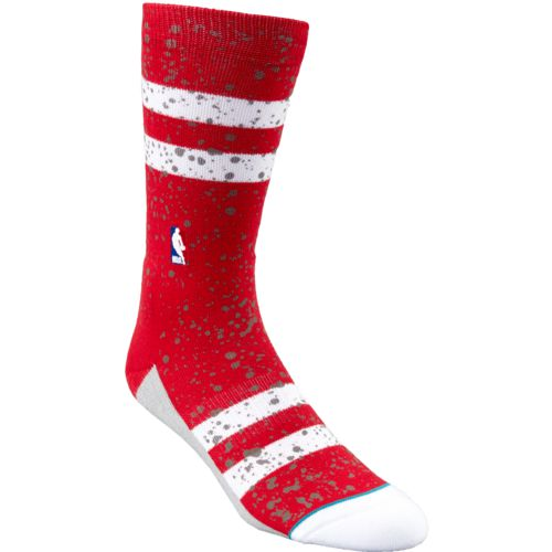 Stance Men's Houston Rockets Overspray Crew Socks