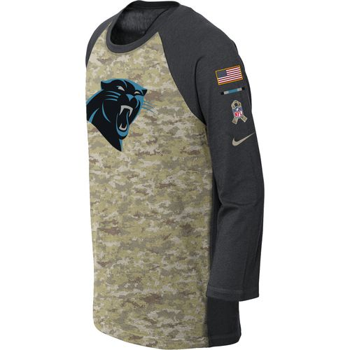 Nike Boys' Carolina Panthers Salute to Service Legend Raglan T-shirt