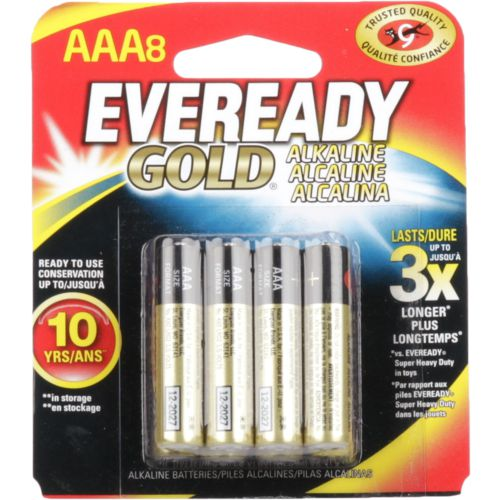 Eveready Gold AAA Alkaline Batteries 8-Pack