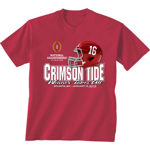 New World Graphics Men's University of Alabama 2018 CFP Winner Takes All T-Shirt