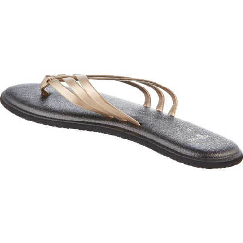 Sanuk Women's Yoga Salty Metallic Flip-Flops - view number 3