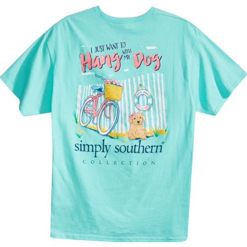 Simply Southern Women's Hang with My Dog Short Sleeve T-shirt
