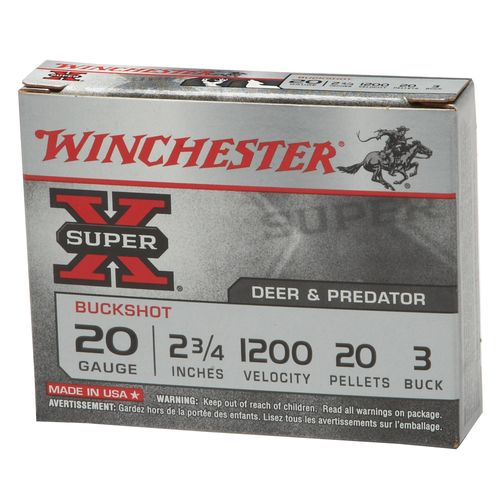 Display product reviews for Winchester Super-X 20 Gauge Buckshot Load Shotshells