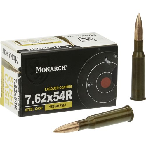 Monarch® 7.62 x 54 R FMJ .45 185-Grain Centerfire Ammunition