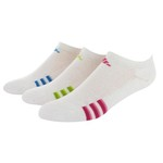 adidas Girl's Variegated No-Show Socks 3-Pack