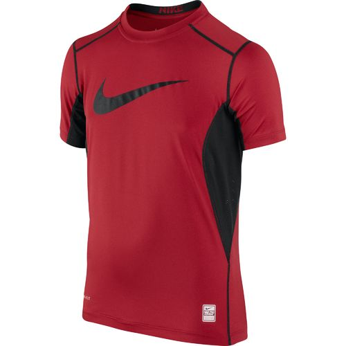 Nike Boys 39 Pro Combat Core Fitted Swoosh T Shirt Academy