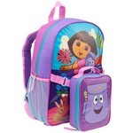Nickelodeon Girls' Dora the Explorer Backpack with Lunch Kit
