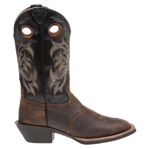 Justin Men's Punchy Stressed Buffalo Western Boots