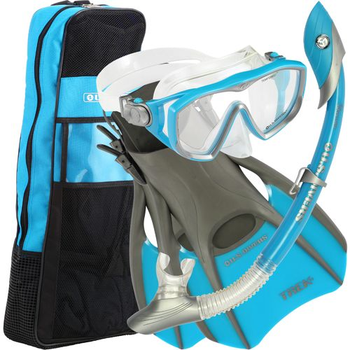 Image for Aqua Lung Women's Diva LX Silicone Snorkel and Fins Set from Academy