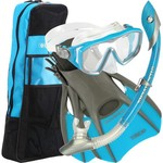 Aqua Lung Women's Diva LX Silicone Snorkel and Fins Set
