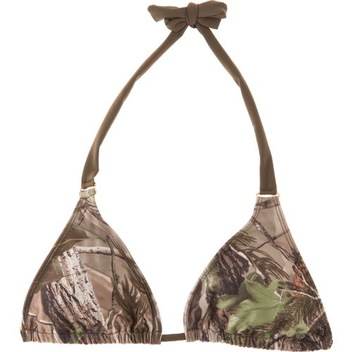 Realtree Juniors' APG Studded Triangle Slider Swim Top
