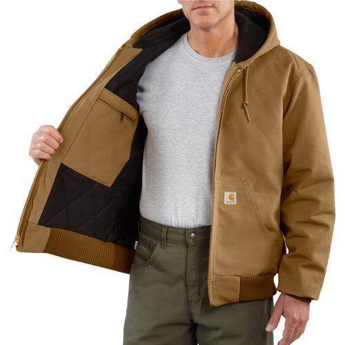 Carhartt Men's Duck Active Quilted Flannel Lined Jacket - view number 3