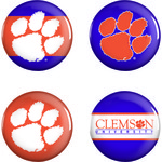 WinCraft Clemson University Buttons 4-Pack