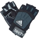 adidas™ Adults' Techfit 1/2 Finger Lineman Football Gloves