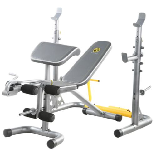 Gold 39 s gym xrs 20 multistation weight bench academy Weight bench and weights