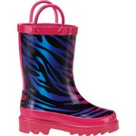 Austin Trading Co.™ Toddlers' Wild Ombré Zebra Rubber Boots