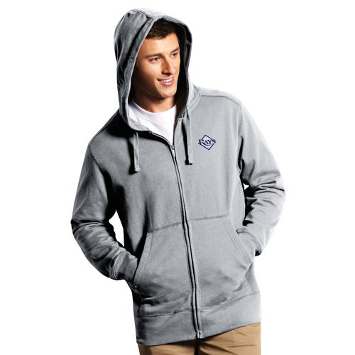 Antigua Men's Tampa Bay Rays Signature Full Zip Hoodie - view number 1