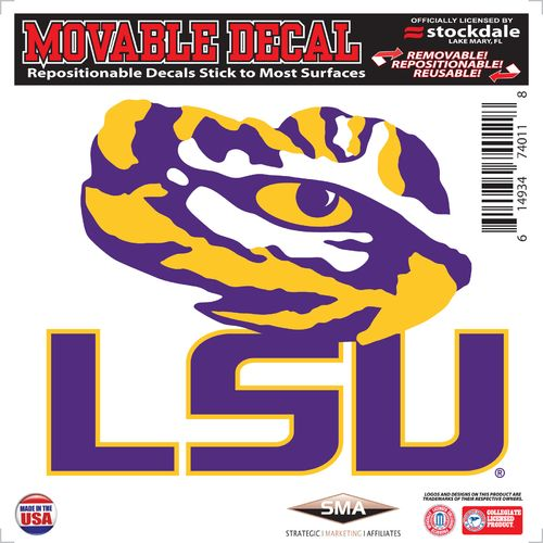 "Stockdale Louisiana State University 6"" x 6"" Decal"