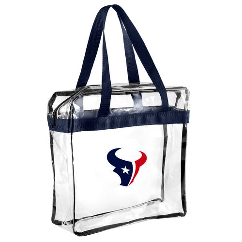 Team Beans Houston Texans Clear Messenger Bag