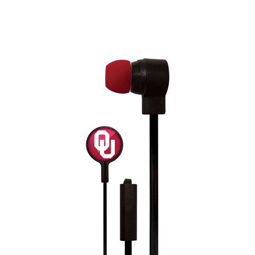 Mizco University of Oklahoma Big Logo Earbuds