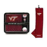 Team Golf Virginia Tech Embroidered Towel Tin Gift Set