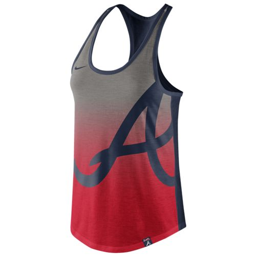 Nike™ Women's Atlanta Braves Triblend Color Fade Tank Top