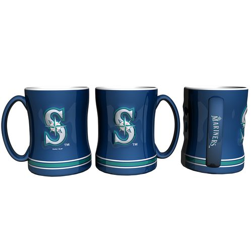 Boelter Brands Seattle Mariners 14 oz. Relief Coffee Mugs 2-Pack