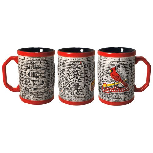 Boelter Brands St. Louis Cardinals Stone Wall 15 oz. Coffee Mugs 2-Pack