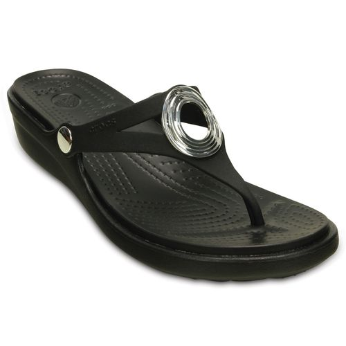 Crocs Women's Sanrah Beveled Circle Wedge Flip-Flops - view number 2