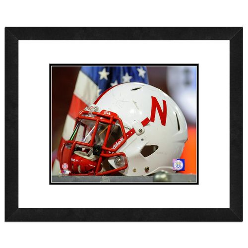 Photo File University of Nebraska Helmet 16' x 20' Matted and Framed Photo