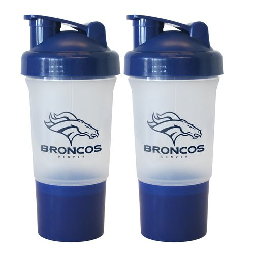 Boelter Brands Denver Broncos 16 oz. Protein Shakers 2-Pack