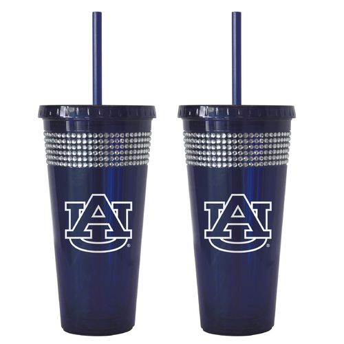 Boelter Brands Auburn University 22 oz. Bling Straw