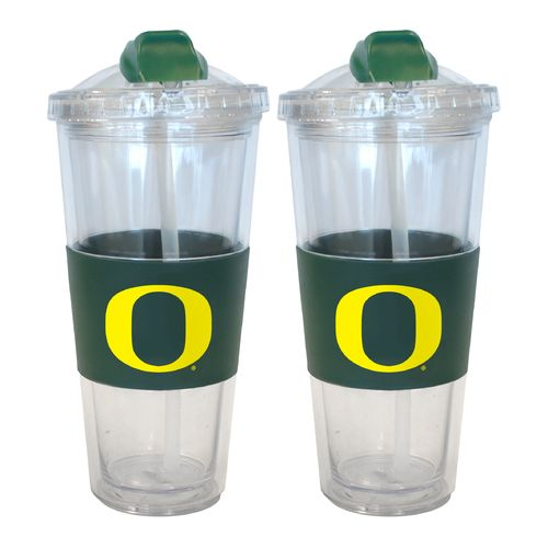 Boelter Brands University of Oregon 22 oz. No-Spill Straw Tumblers 2-Pack