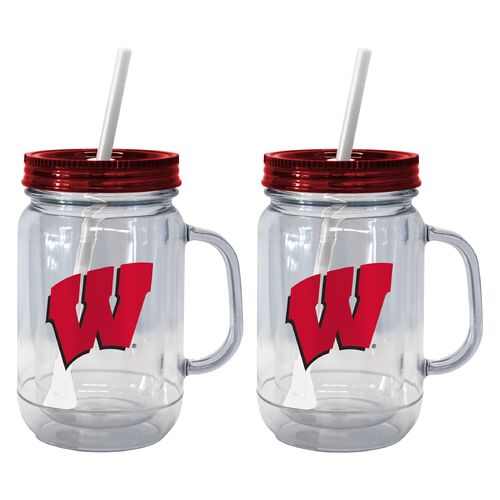 Boelter Brands University of Wisconsin 20 oz. Handled Straw Tumblers 2-Pack