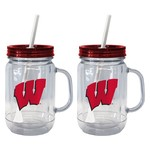 Boelter Brands University of Wisconsin 20 oz. Handled Straw Tumblers 2-Pack - view number 1