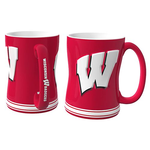 Boelter Brands University of Wisconsin 14 oz. Relief Mugs 2-Pack